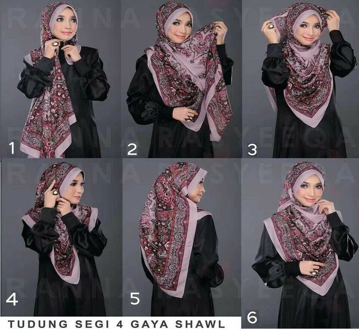 Square scarf Hijab Tutorial
