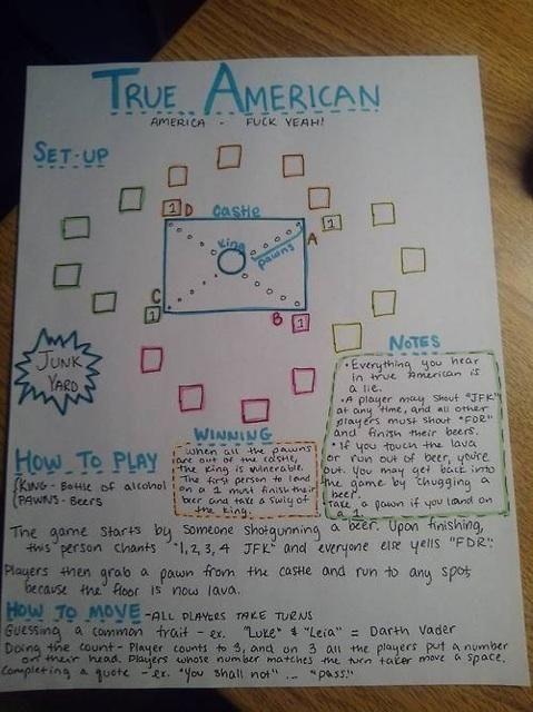 New Girl's True American rules @Emilie Claeys Carroll