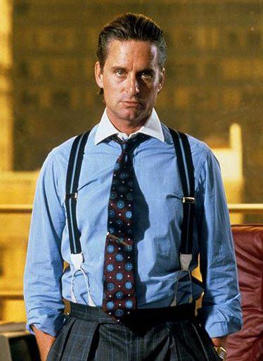 Michael Douglas as Gordon Gekko in Wall Street (Oliver Stone,1987)
