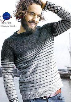 Мужской пуловер реглан.