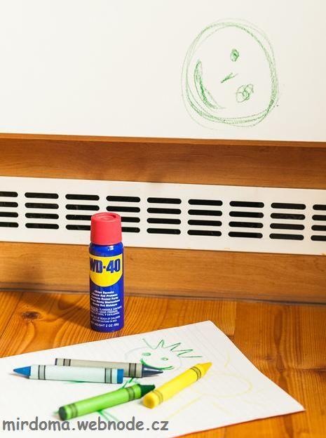 Как удалить следы от восковых карандашей    ПАМЯТКА. Полезные советы для дома
