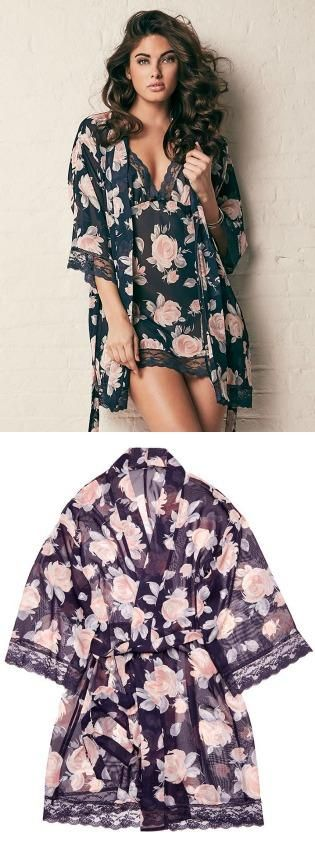 Dress to dazzle in a sophisticated floral robe!