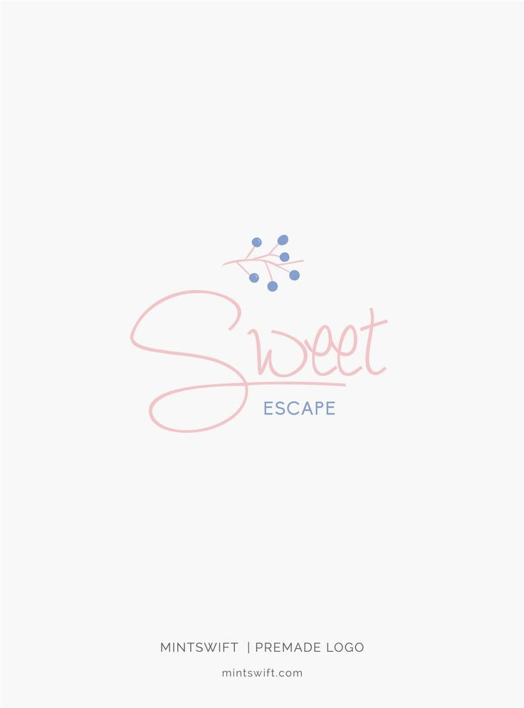 $39 | Sweet Escape Premade Logo Design | MintSwift