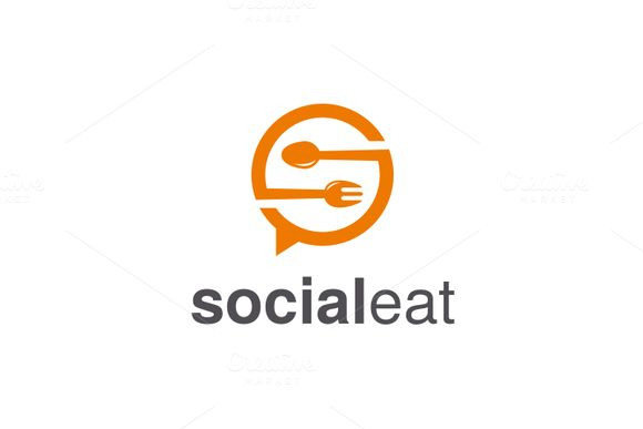 Social Eat Logo by @Graphicsauthor