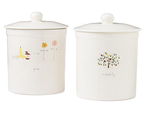 ceramic countertop compost container compost bin container crock porcelain kitchen