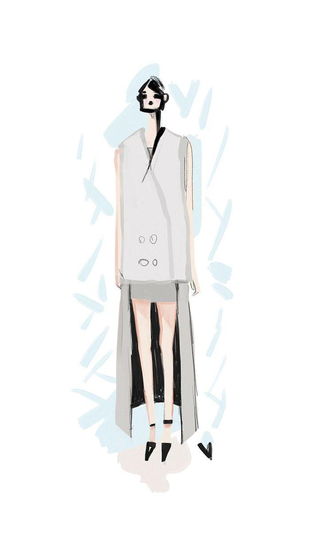 Strunevskaya Illustration osome2some fall fashion illustration