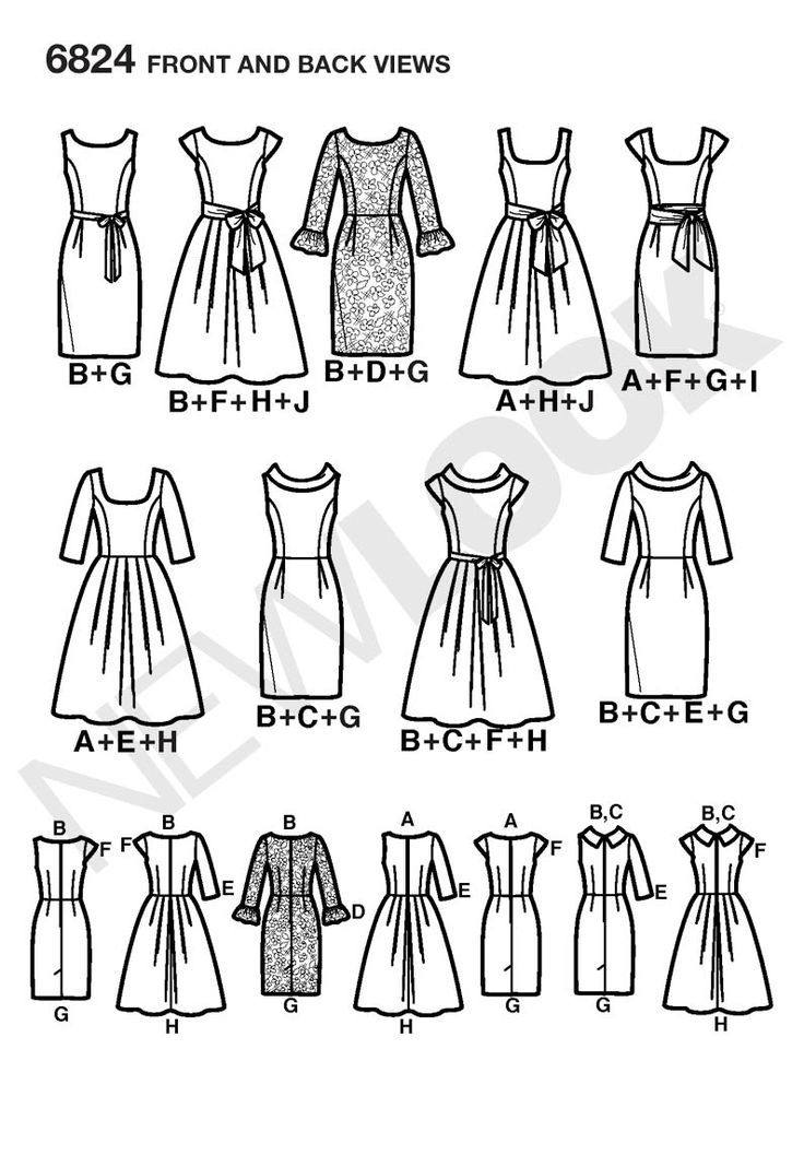 155 best couture v tements perso images on pinterest bees blouse Dirndl Wedding Dress 6824 new look pattern misses design your look dresses