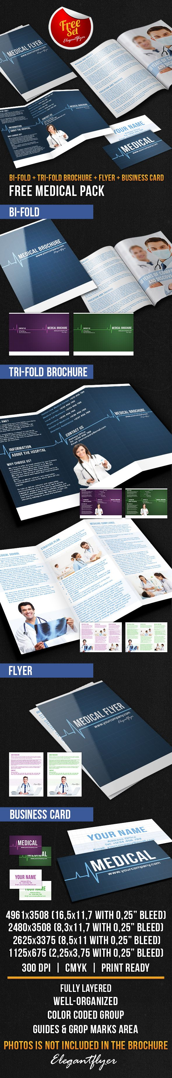medical brochure pack free psd template