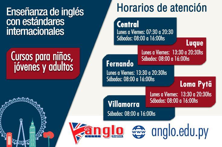 Cursos de inglés en Paraguay para niños, adolescentes y adultos. Clases particulares de inglés y paquetes especiales de inglés comercial para empresas. Centro autorizado para Exámenes de Cambridge English, servicio para exámenes IELTS y certificaciones de inglés.