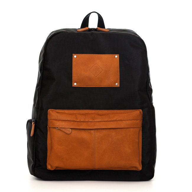 Light practical backpack in black colour - it contains special pocket for your laptop!