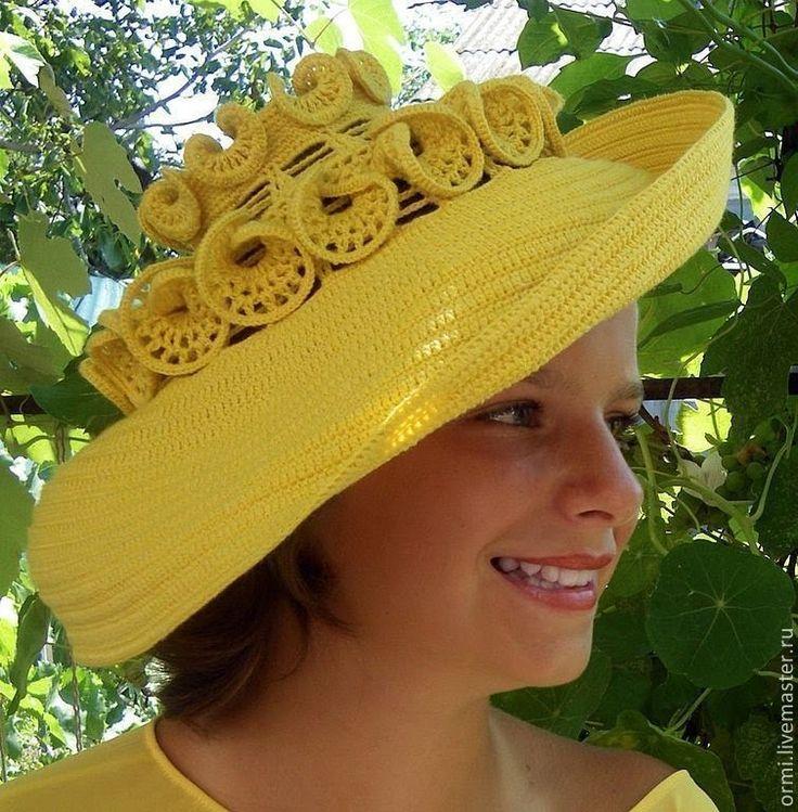 Вязаные шляпы для леди. Креативные. Beautiful crochet hats for lady. Очень интересные вязаные крючком шляпы мастера с большой буквы Людмилы Орешкиной. Как вя...