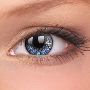 Silver Jewel Contact Lenses (Pair) - buy theatrical contact lenses at www.youknowit.com #contactlenses #fancydress