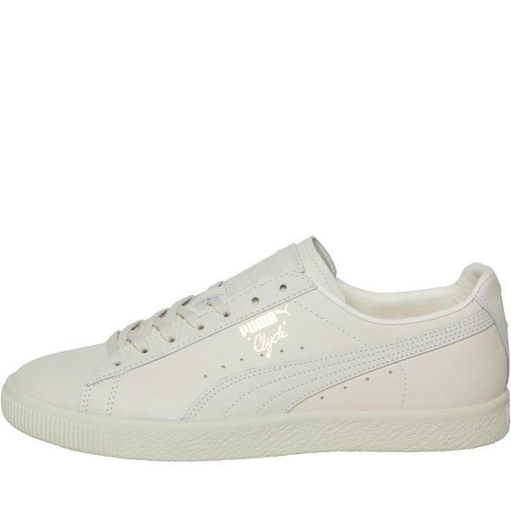 Puma Mens Clyde Natural Trainers Puma White