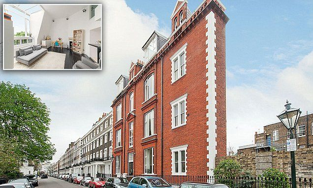 London studio flat in 6ft wide apartment block goes on the market for £900,000