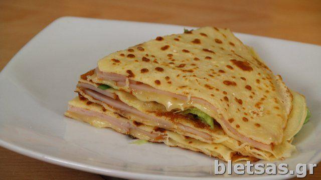 Κρέπα Σάντουιτς με τυρί & λαχανικά ή vegan με πάστα ελιάς