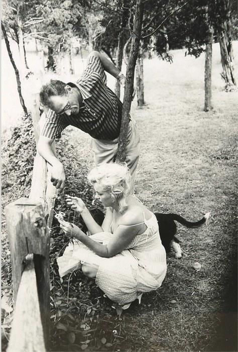 Marilyn Monroe, Arthur Miller and their dog