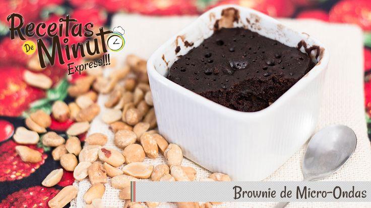 Brownie de Micro-ondas   Receitas de Minuto - A Solução prática para o seu dia-a-dia!