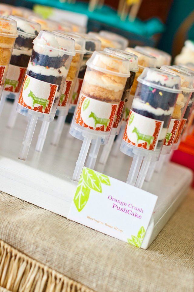 Our PushCakes at Operation Shower in SD - Meringue Bake Shop