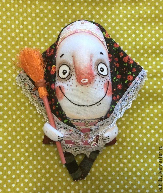 Купить Ягулички. - разноцветный, баба яга, метла, обереги в подарок, оберег для дома, авторская кукла