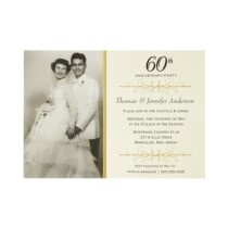 Elegant 60th Wedding Anniversary Party Invitations idea I love the idea of