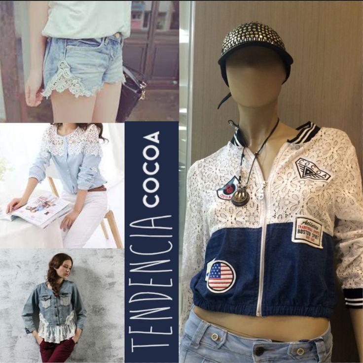 Lo último en #tendencia al mejor estilo #cocoa #moda #diseño #texturas #imagen #denim #jeans #cocoa
