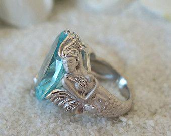 mermaid – Etsy ES  *Mermaid ring  *Anillo de sirena