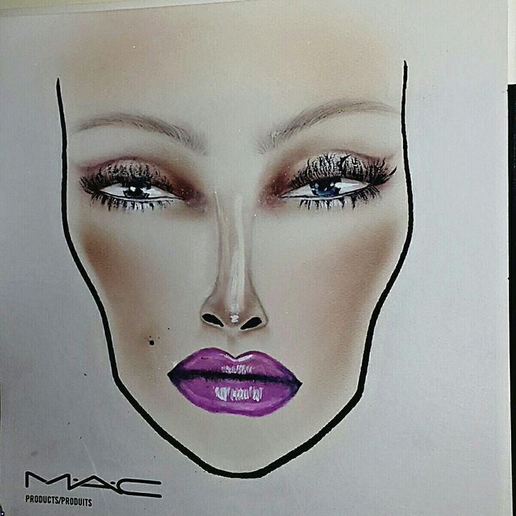 Face chart Mac Cosmetics ~ Lavander Jade