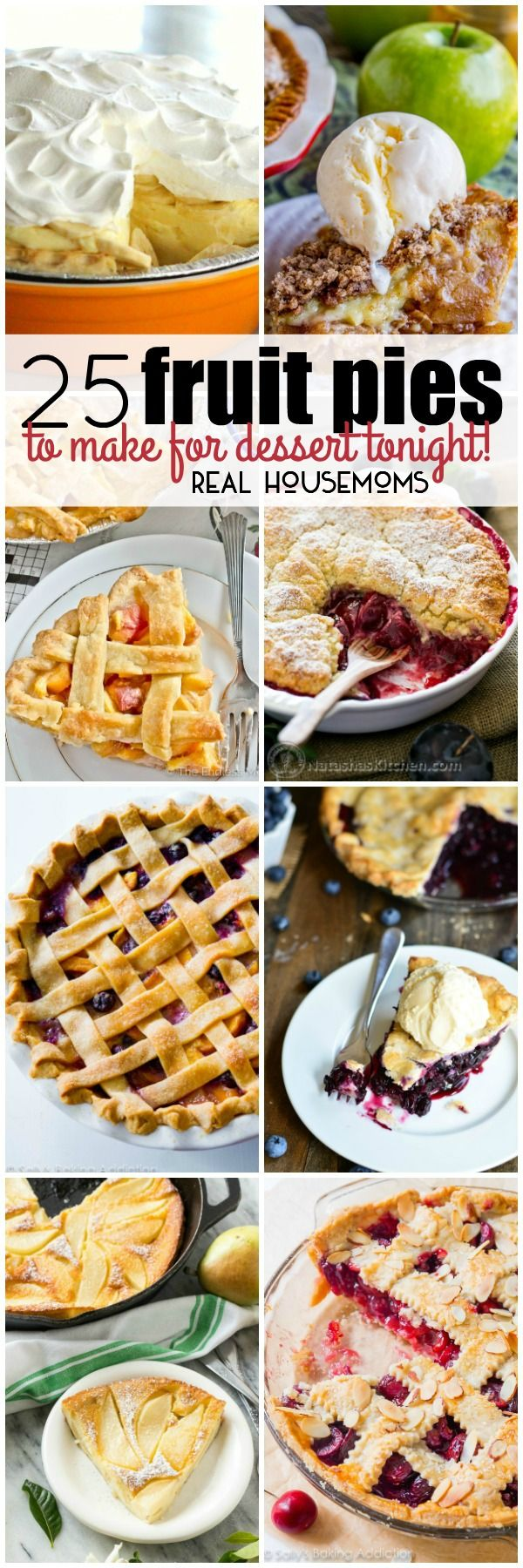 No matter which fruits are your favorite, you'll find a pie to please your palate with these 25 Fruit Pies to Make for Dessert Tonight! via @realhousemoms