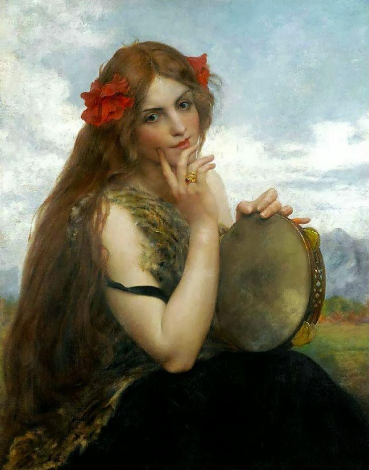 Portrait of Peladan by Alexandre Seon