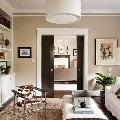 Brown interior doors....sealskin by Sherwin Williams