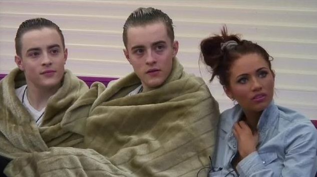 John and Edward & Amy Childs.  Celebrity Big Brother 2011 #Jedward