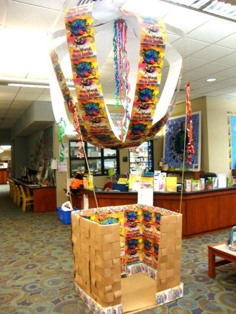 hot air balloon reading area