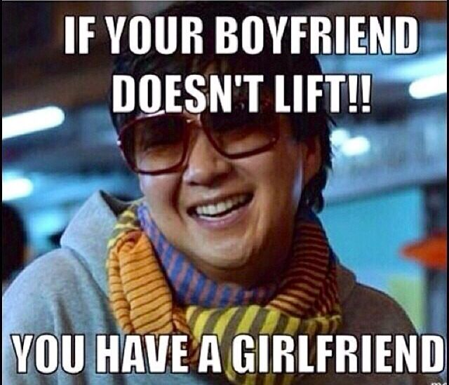 Love Finds You Quote: If Your Boyfriend Doesn't Lift, You Have A Girlfriend Lol