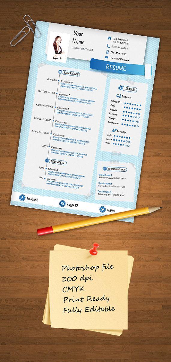 Printable customizable resume CV 15 best