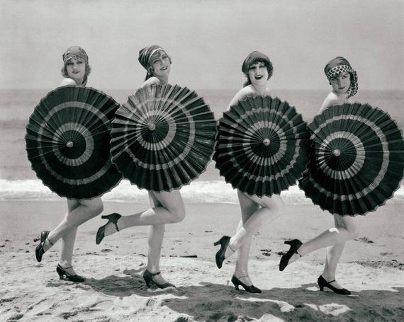 Vintage beach photo house home decor photography art print coastal wall art black and white fine photograph beauties 1920s girls women