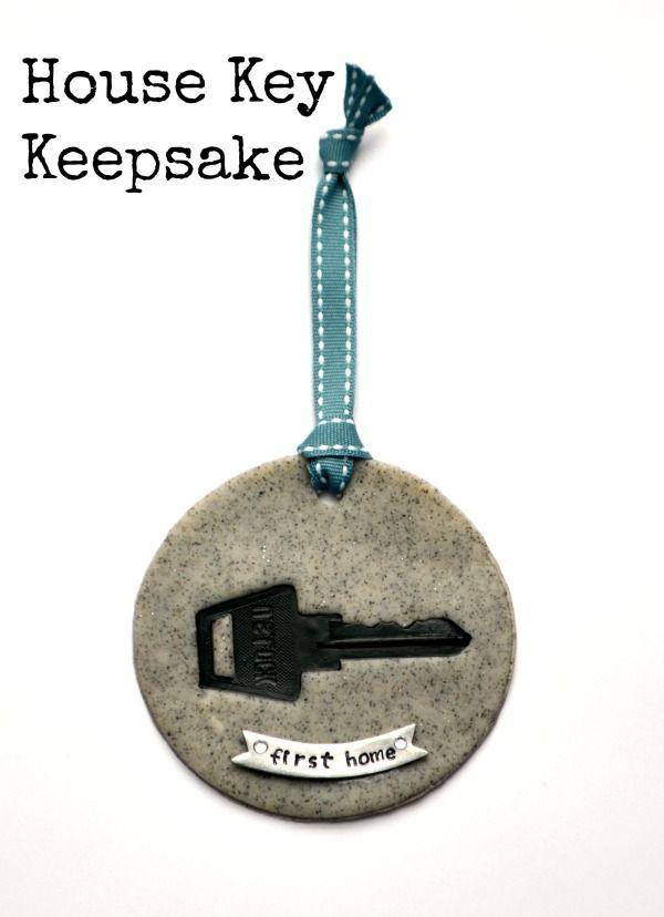 Polymer Clay Tutorial - House Key Keepsake from One Artsy Mama