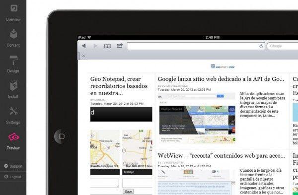 Para crear una versión iPad de cualquier sitio web