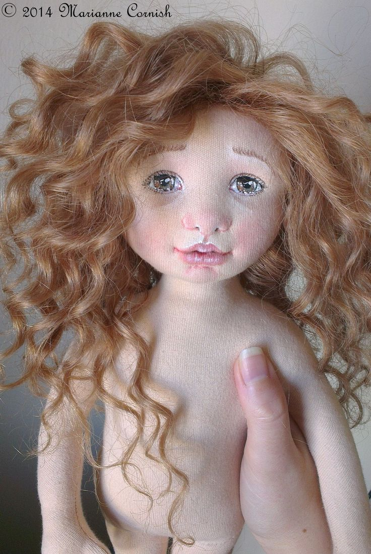 Textile Art Doll by Marianne Cornish