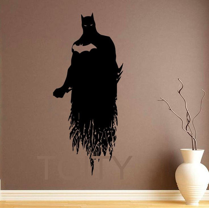 25 best batman wall art ideas on pinterest batman room for Batman wall mural