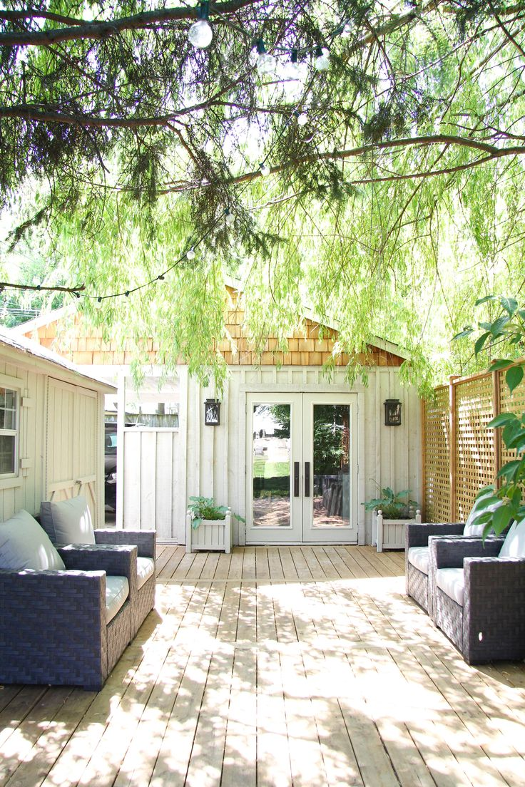 Creating A Backyard Retreat with Lowe's / Reveal! • Lindsay Stephenson