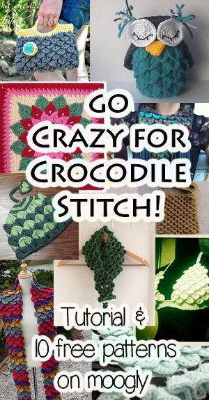 Free Crocodile Stitch Crochet Patterns with Tutorials!