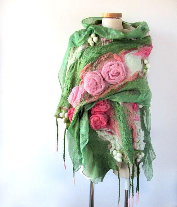 www.polandhandmade.pl  #polandhandmade #scarf  #felting