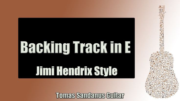 Backing Track in E Jimi Hendrix Style with Chords and E minor Pentatonic Scale