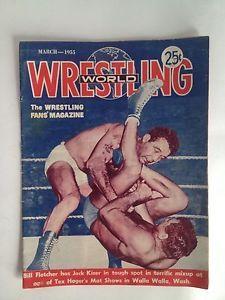 March 1955 Wrestling World Magazine: Professional Wrestling