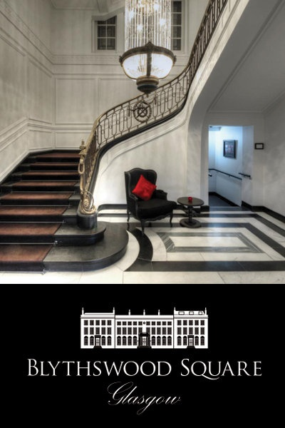 striking hotel hall stairway - Beaded Inset Hotel Decoration