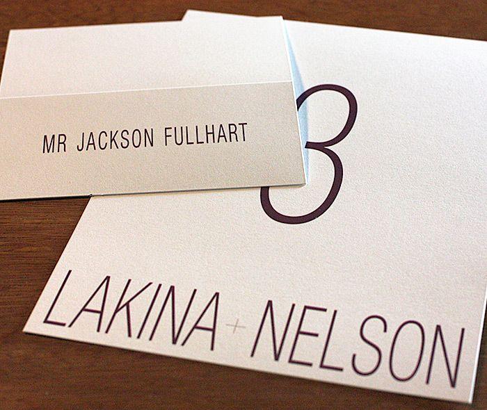 Lakina - modern letterpress wedding invitation by invitations by ajalon