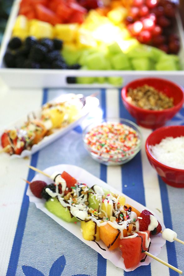 Welcome to Summer Party: Fruit Kabob Sundaes