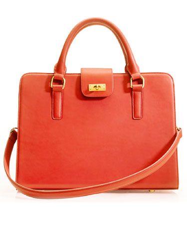 J. Crew Edie attache satchel #red #purse #handbag #fashion
