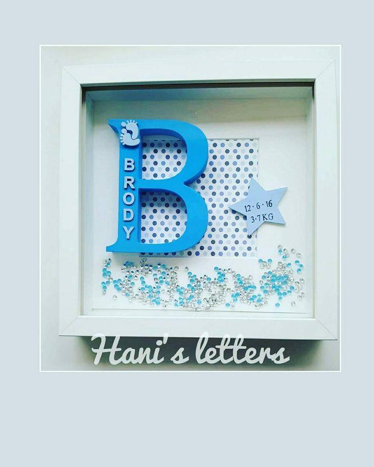 Telaio lettera personalizzata regalo di vivaio regalo del