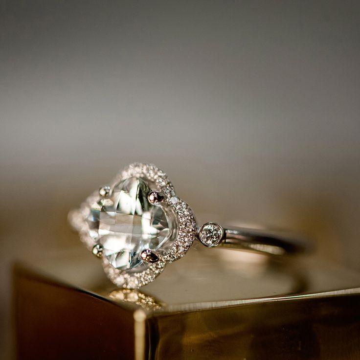 We love the unique design of this aquamarine ring. #ShaneCo #ShaneCoChic